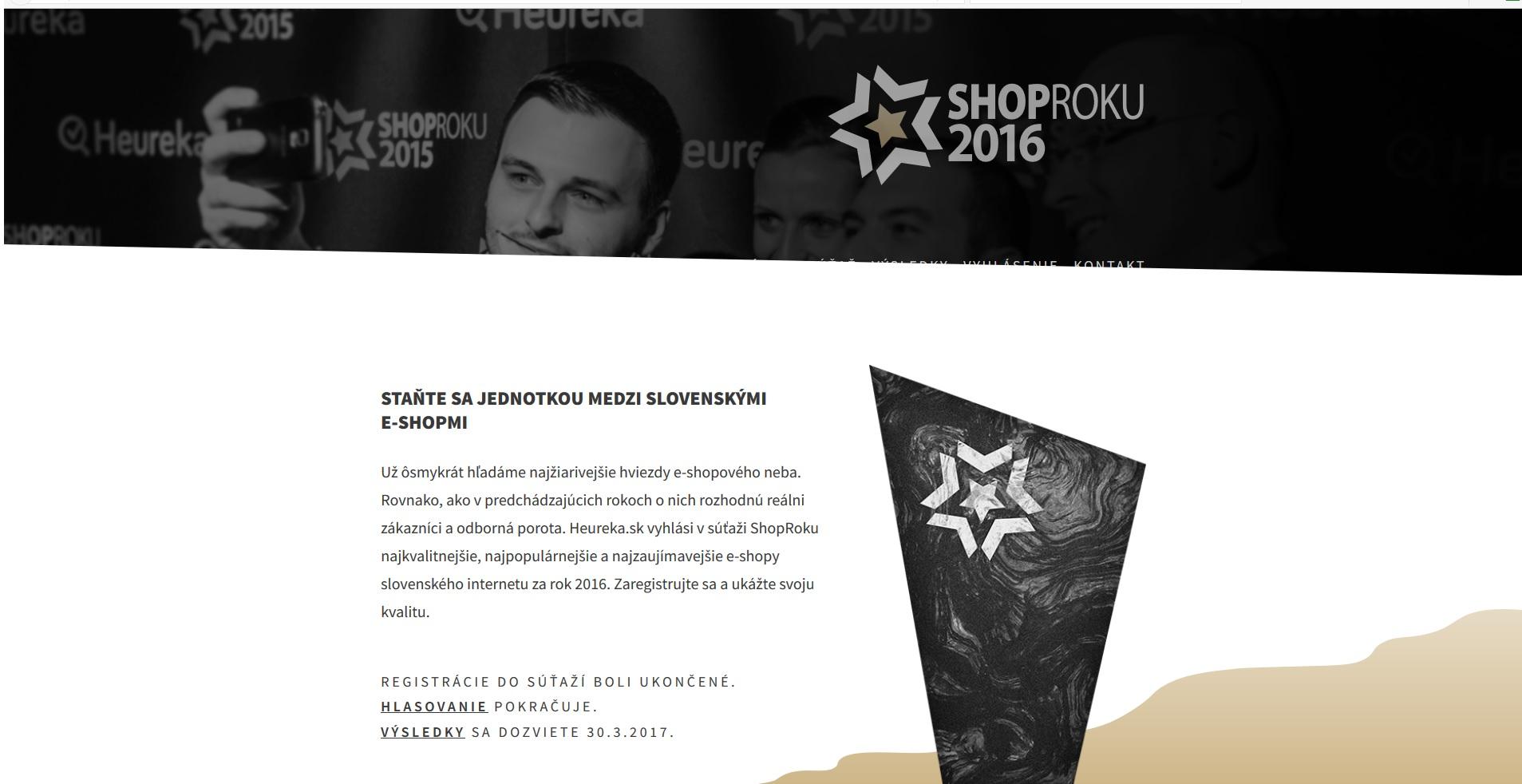 c88cd92cba82 ShopRoku 2016  Posledná možnosť zahlasovať za najlepší e-shop -  Instoreslovakia